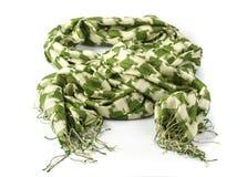 Sprawdzać zielony szalik zdjęcie stock