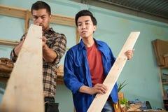 Sprawdzać drewniane deski Zdjęcie Stock