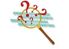Sprawdzać program w magnifier Fotografia Stock