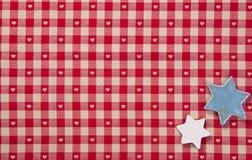 sprawdzać tkaniny czerwieni gwiazdy Fotografia Stock