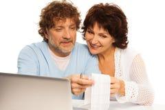 Sprawdzać up na zakupy rachunku Obrazy Stock