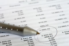 sprawdzić bilansu płatniczego Fotografia Stock