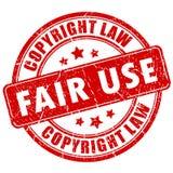 Sprawiedliwego zastosowania prawa autorskiego znaczek Zdjęcia Royalty Free