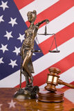 sprawiedliwość amerykańskiej flagi Obraz Stock
