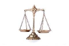 sprawiedliwość dekoracyjne skala Obrazy Royalty Free