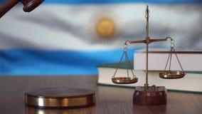 Sprawiedliwość dla Argentyna praw w argentyńczyka sądzie zbiory wideo