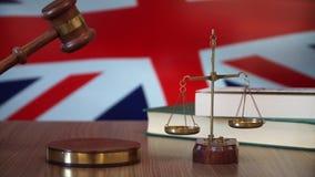 Sprawiedliwość dla Brytania praw w Brytyjski sądzie zdjęcie wideo