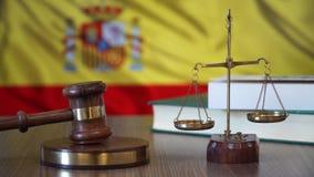 Sprawiedliwość dla Hiszpania praw w hiszpańszczyzna sądzie zdjęcie wideo