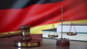 Sprawiedliwość dla Niemcy praw w niemiec sądzie zbiory