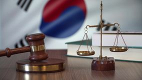 Sprawiedliwość dla Południowego Korea praw w koreańczyka sądzie zdjęcie wideo