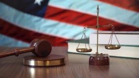Sprawiedliwość dla USA praw w amerykanina sądzie zbiory
