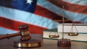 Sprawiedliwość dla USA praw w amerykanina sądzie zbiory wideo