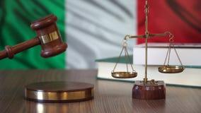 Sprawiedliwość dla Włochy praw w włoszczyzna sądzie zdjęcie wideo