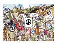 Sprawiedliwość i pokój royalty ilustracja
