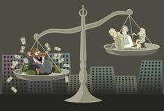 sprawiedliwość skażająca Zdjęcia Royalty Free