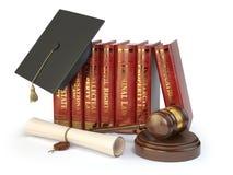 Sprawiedliwość, uczy się różnych pola prawa pojęcie Książki, gradua royalty ilustracja