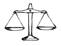 Sprawiedliwość waży ilustracja wektor