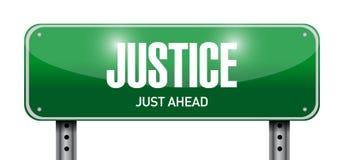 sprawiedliwość znaka ulicznego ilustracyjny projekt royalty ilustracja