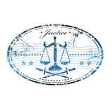 sprawiedliwości pieczątka ilustracji