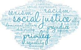 Sprawiedliwości Społecznej słowa chmura Obrazy Stock