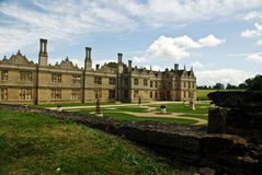 Sprawling Elizabethan manor house Royalty Free Stock Images