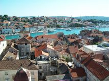 Sprawling History. View stretching across a historic Croatian town Stock Images