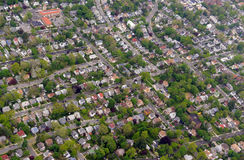 Sprawling suburban landscape full of houses and apartment buildings Stock Images