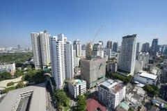 Sprawling Urban Skyline of Bangkok Thailand Royalty Free Stock Photo