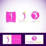 Sprawność fizyczna aerobika logo Zdjęcie Royalty Free