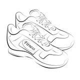 Sprawność fizyczna buty Zdjęcia Royalty Free