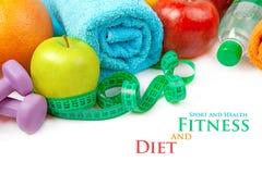 Sprawność fizyczna i dieta, zdrowy jedzenie Fotografia Stock