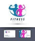 Sprawność fizyczna loga projekta wektorowy szablon gym lub sport Zdjęcie Stock