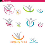 sprawność fizyczna logo Fotografia Stock