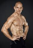 Sprawność fizyczna męski model Fotografia Stock