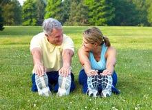 sprawność fizyczna seniory Zdjęcia Stock