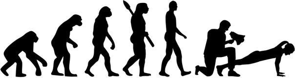 Sprawność fizyczna trenera ewolucja ilustracji