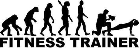 Sprawność fizyczna trenera ewolucja z tytułem ilustracja wektor