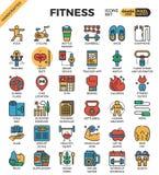 Sprawności fizycznej ćwiczenia ikony royalty ilustracja