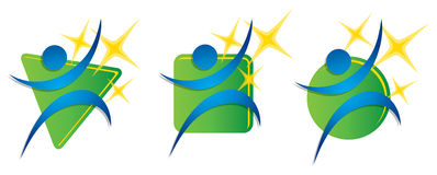 Sprawności fizycznej ćwiczenia logo Obraz Stock