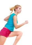 Sprawności fizycznej dziewczyny sporta kobiety bieg jogging odizolowywam Obraz Stock