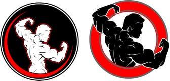 Sprawności fizycznej Gym pustego miejsca logo royalty ilustracja