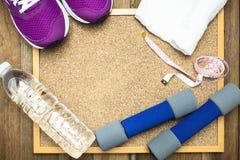Sprawności fizycznej i sporta wyposażenie Obraz Royalty Free