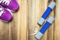 Sprawności fizycznej i sporta wyposażenie Zdjęcia Stock