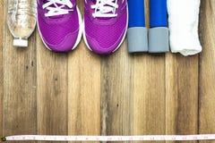 Sprawności fizycznej i sporta wyposażenie Zdjęcie Stock