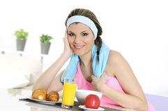 sprawności fizycznej odżywianie obrazy stock