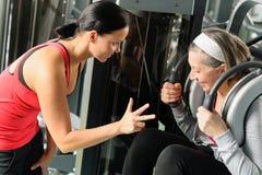 sprawności fizycznej osobista starsza trenera kobieta Zdjęcie Royalty Free