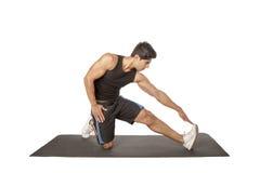 Sprawności fizycznej rozciągania ćwiczenia Obrazy Royalty Free