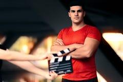 Sprawności fizycznej samiec model Przygotowywający Dla krótkopędu zdjęcia royalty free