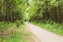 Sprawności fizycznej, sporta, przyjaźni i stylu życia pojęcie, - uśmiechnięta para biega outdoors Obrazy Royalty Free