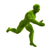 sprawności fizycznej trawy mężczyzna bieg Obraz Royalty Free